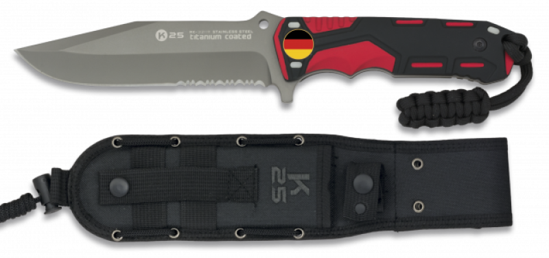 Tactical knife red/black